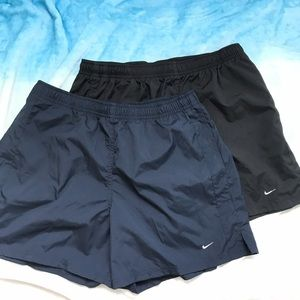 Nike Ladies Active Shorts Set of 2 Navy and Black